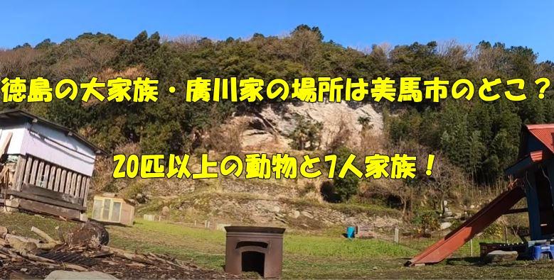 徳島県 廣川家 場所 住所 どこ