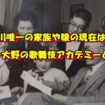 平川唯一 家族 娘